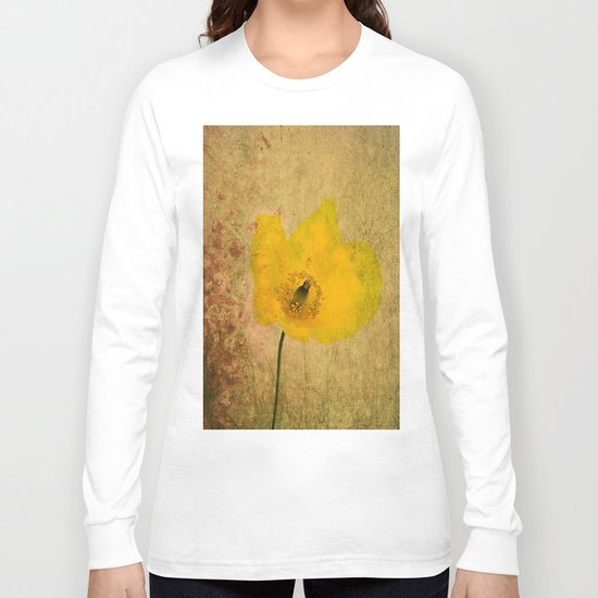 Antique Yellow Flower Long Sleeve T-shirt