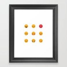Emojis: All Framed Art Print