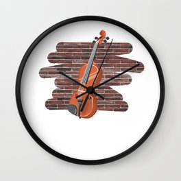 Violin Musical Instrument Wall Clock