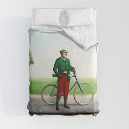 Mr Cyrus D. Chympe on the Cycling Trail Comforters