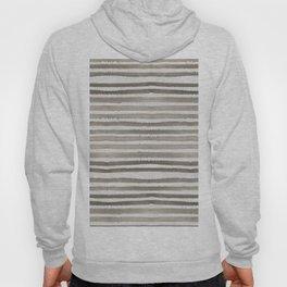 Simply Shibori Stripes Earth Brown on Lunar Gray Hoody