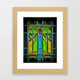 Mausoleum Stained Glass Framed Art Print
