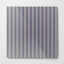 Retro Stripes Purple and Orange Metal Print