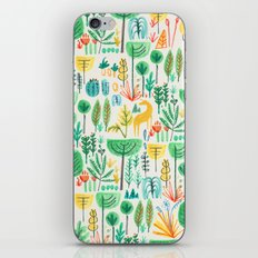 Jungle life with golden unicorn iPhone Skin