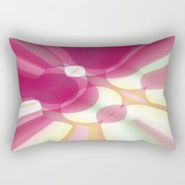 Striations Pinks and Beiges Rectangular Pillow