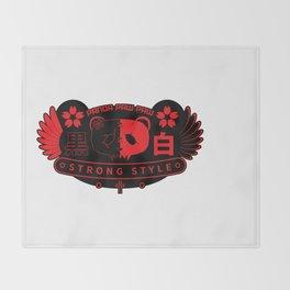 Panda Paw Paw Wings T-Shirt Design (Black Red) Throw Blanket