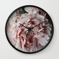 peonies Wall Clocks featuring Peonies  by Pure Nature Photos