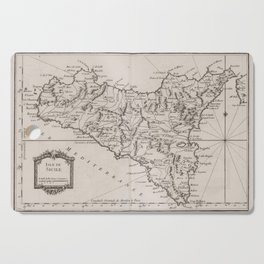 Vintage Map of Sicily Italy (1764) Cutting Board