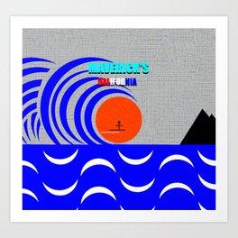 Maverick's California surfing art Art Print