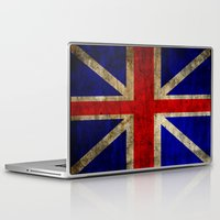 british flag Laptop & iPad Skins featuring British Flag by Jason Michael