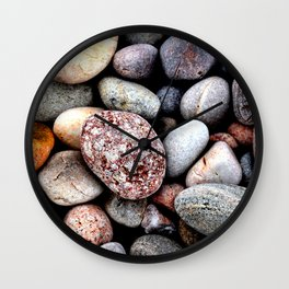 Rocks on a Beach Wall Clock