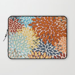 Colorful Bright Floral Pattern Abstract Laptop Sleeve