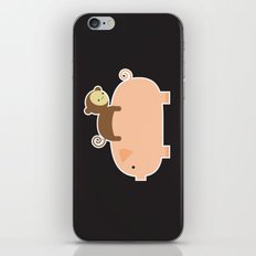 Baby Monkey (Black Bg) iPhone & iPod Skin