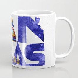 Kansas Typographic Flag Map Art Coffee Mug