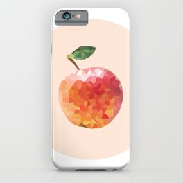 apple colorful geometric fruit circle | polygonal iPhone Case