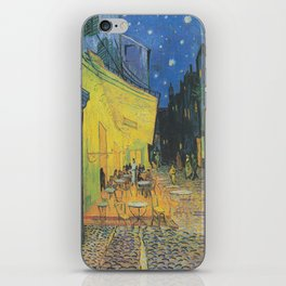Vincent can Gogh's Cafe Terrace at Night iPhone Skin