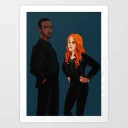 new men in black ft. Luke and Clary Art Print