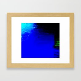 Moon Casting in to the Sea Framed Art Print