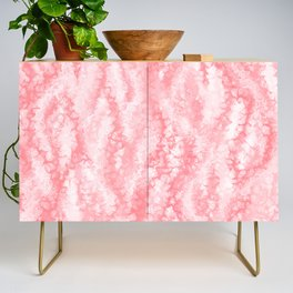 Pastel Strawberry Pink Lacey Icing Credenza