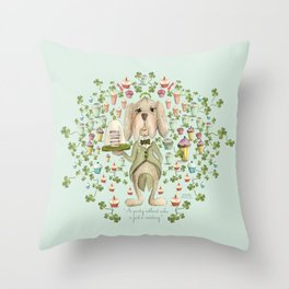 A party without cake is just a meeting! Throw Pillow