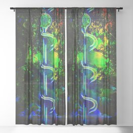 World of Mystery Sheer Curtain
