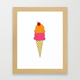 Frozen Yogurt Framed Art Print