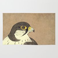 falcon Area & Throw Rugs featuring Falcon by Lynette Sherrard Illustration and Design