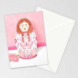 Pink matrioska Stationery Cards