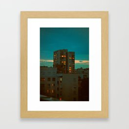 Counting Cubes Framed Art Print