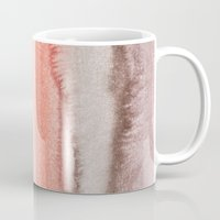 coral Mugs featuring WITHIN THE TIDES CORAL DAWN by Monika Strigel