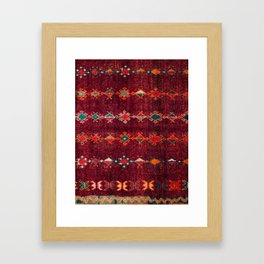 -A8- Colored Traditional Moroccan Carpet Artwork. Framed Art Print