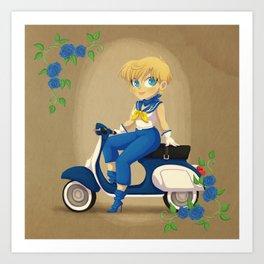 Retro Sailor Uranus Art Print
