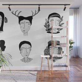 Seis Fridas Wall Mural
