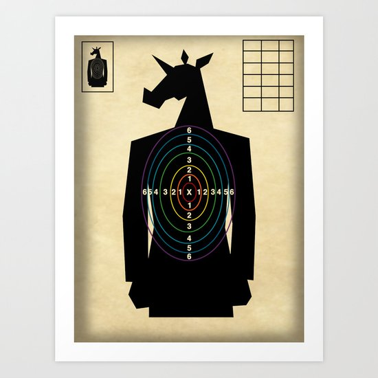 Shooting Target Unicorn Art Print By That S So Unicorny