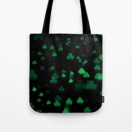 Green Bokeh Shamrocks Tote Bag