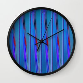 The blue fence Wall Clock
