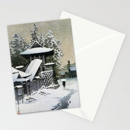 Collection Of Scenic Views Of Japan II, Western Japan Edition, Temple Bell Tower Of Mt. Koyasan Stationery Cards