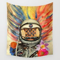 nasa Wall Tapestries featuring NASA Messed Me Up by Collage Calamity