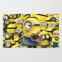 minions Area & Throw Rugs featuring MINIONS by DisPrints