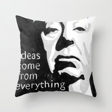 Ideas come from everything Throw Pillow