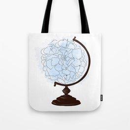 Floral globus Tote Bag