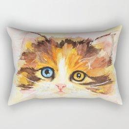 Watercolor Cat 12 Cute Kitten Rectangular Pillow