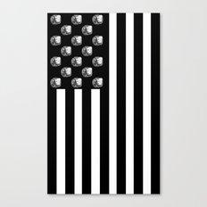 US MiniFigure Flag - Vertical Canvas Print