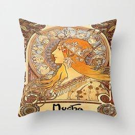 Vintage poster - Zodiac Throw Pillow