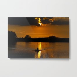 Rowing out of the sun Metal Print