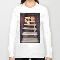 concrete Long Sleeve T-shirts featuring Concrete stairway by Emily Lomax