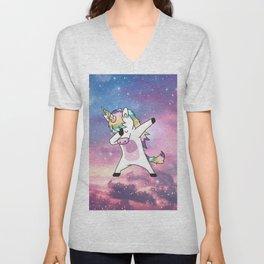 Unicorn galaxy Unisex V-Neck