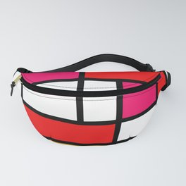 The fake changed colours Piet Mondrian Fanny Pack