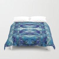 kilim Duvet Covers featuring Zuni River by Nina May Designs