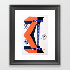 Tick Tac Toe Framed Art Print